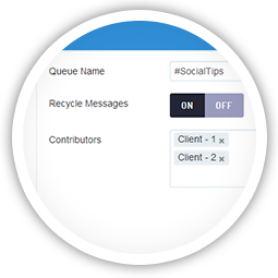Configure queues to automatically expire content or recycle posts.