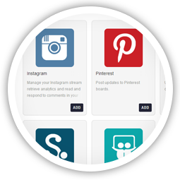 Managing Pinterest, Flickr &<br/>Instagram accounts is a breeze