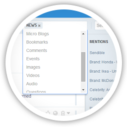 Mentions don't only happen on Twitter. You should be using a 360° monitoring tool.
