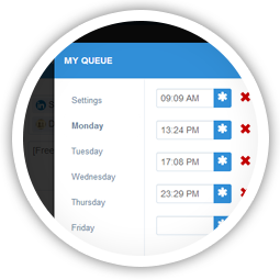 Queue messages to be delivered at optimal times throughout the day.