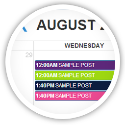 Use SmartSocial's calendar to oversee your  scheduled messages.